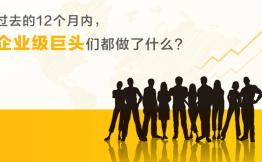 过去12个月内,国内外的企业级巨头们都做了些什么?(上)