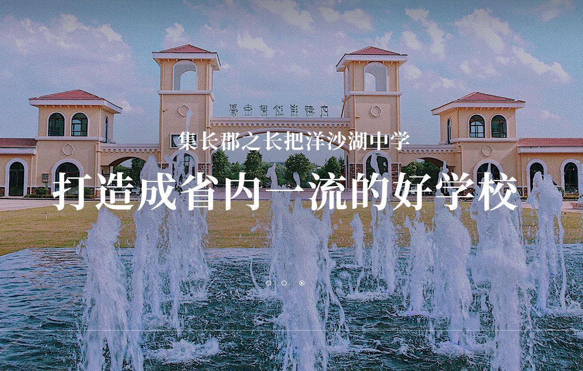 雍熙上线案例 | 长郡教育集团站群之洋沙湖中学